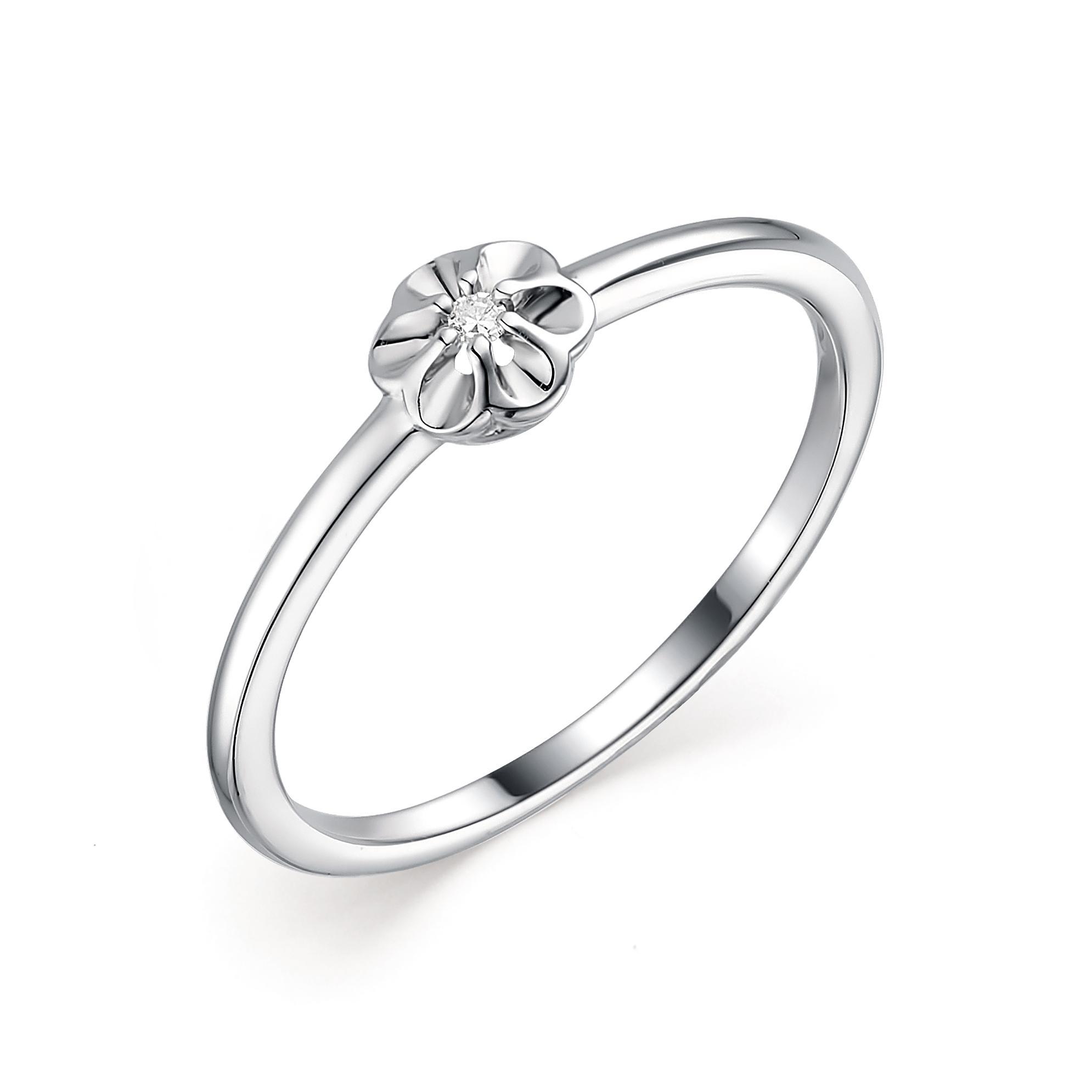 Серебряное кольцо Алькор с бриллиантом 01-1843/000Б-00