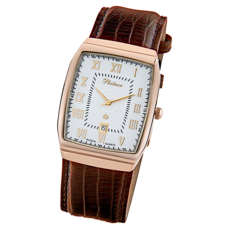 Купить часы платинор чайка женские наручные часы коричневые