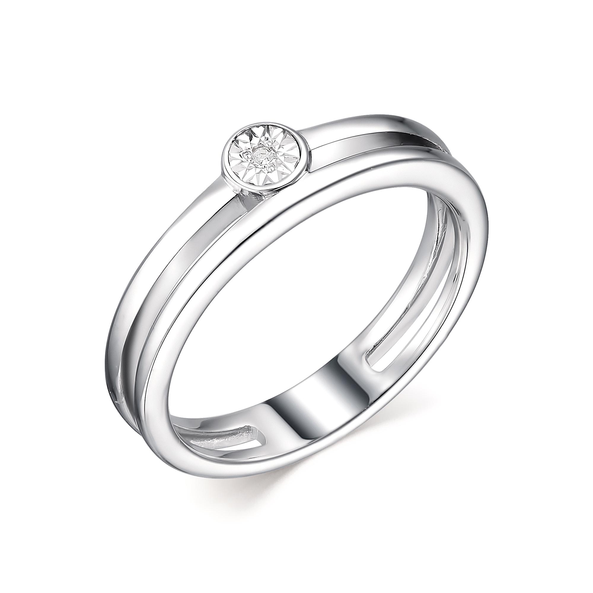 Серебряное кольцо АЛЬКОР с бриллиантом 01-1919/000Б-00