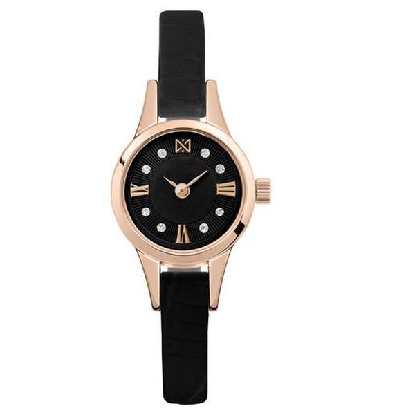 Золотые часы Часовой завод Ника с фианитом и минеральным стеклом 0303.0.1.53D