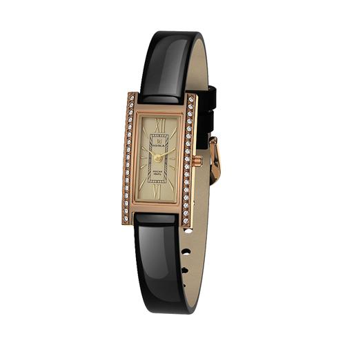 Золотые часы Часовой завод Ника с фианитом и минеральным стеклом 0438.2.1.41Н