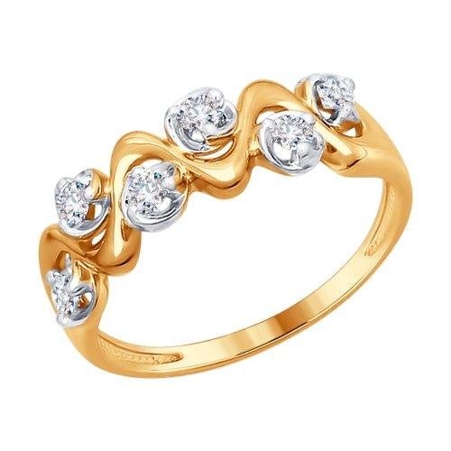 a0c9b141c86c Золотое кольцо с бриллиантом SOKOLOV 1011562  Золото 585° пробы ...