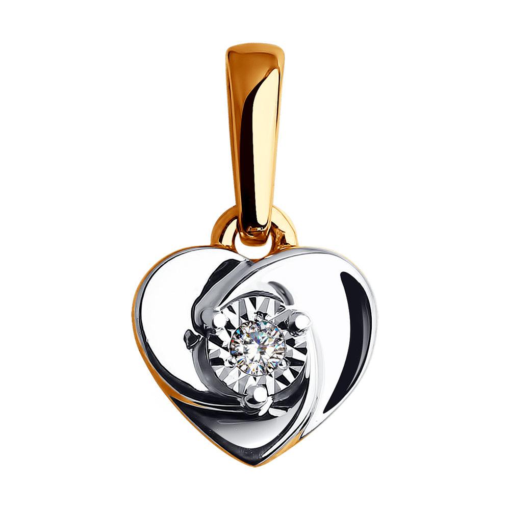 Золотая подвеска SOKOLOV с бриллиантом 1030573