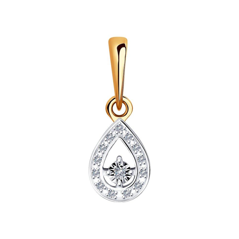 Золотая подвеска SOKOLOV с бриллиантом 1030782