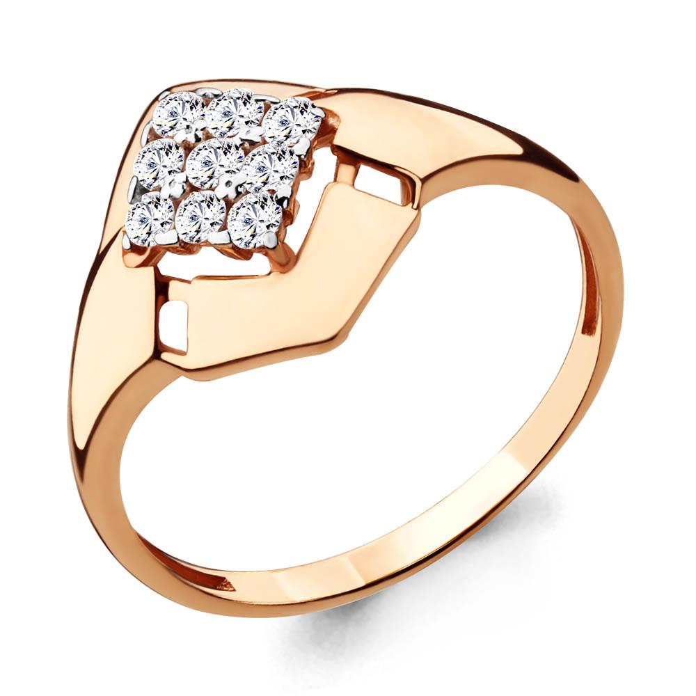 Золотое кольцо с фианитом Аквамарин 68028А  Золото 585 пробы a149e7612f967