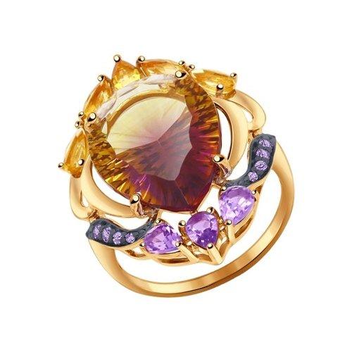 Золотое кольцо SOKOLOV с фианитом b3c0798eb22e5