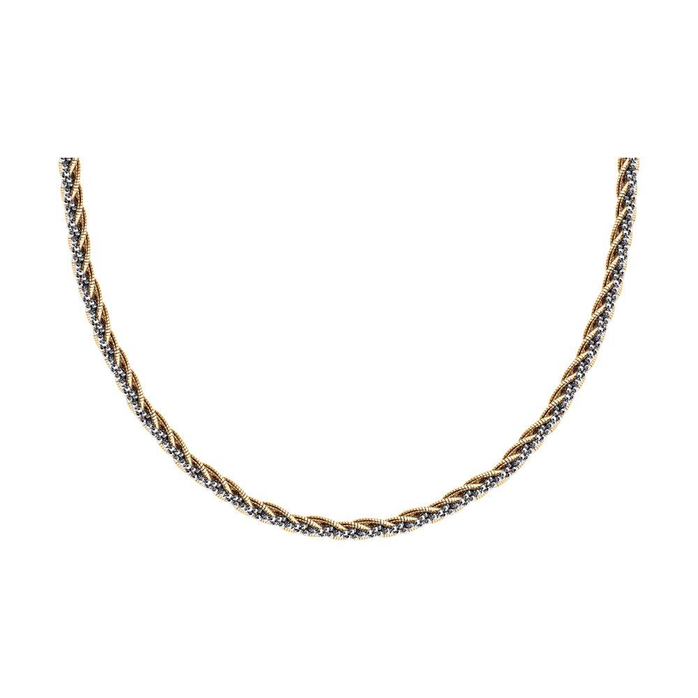 Колье из золочёного серебра SOKOLOV 94074643