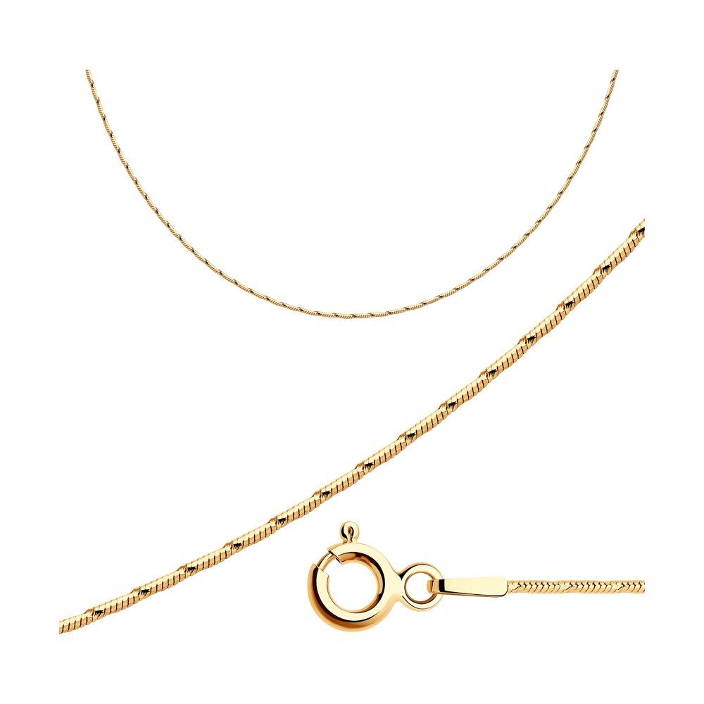 Серебряная цепь плетение Снейк (Тонда) SOKOLOV 94074649