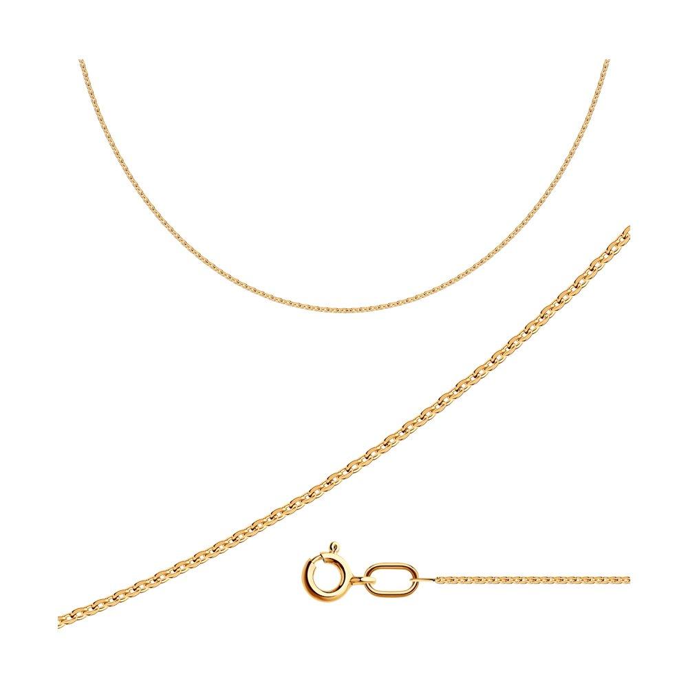 Цепь плетение Якорное из золочёного серебра SOKOLOV 988030304