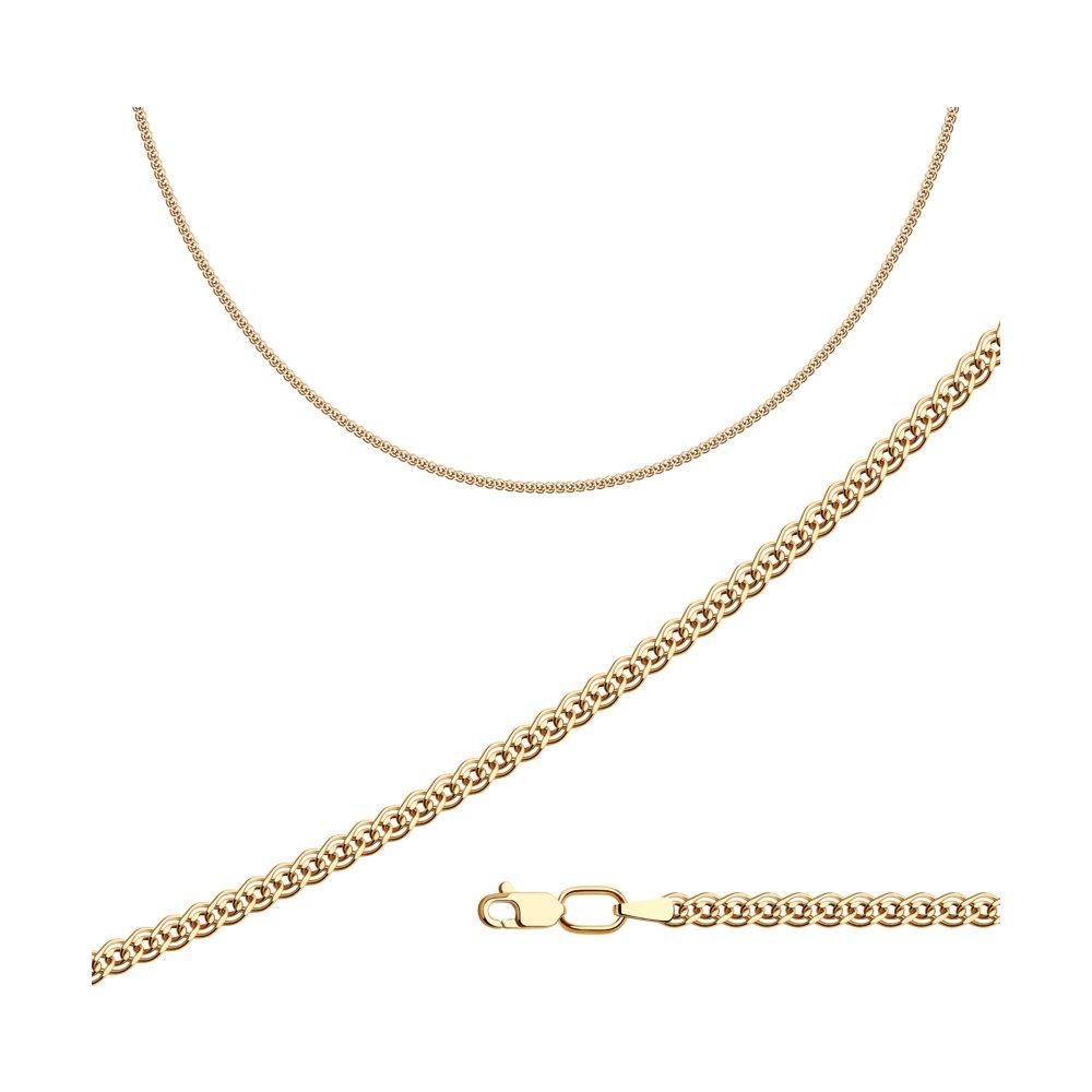 Цепь плетение Нонна из золочёного серебра SOKOLOV 988060502
