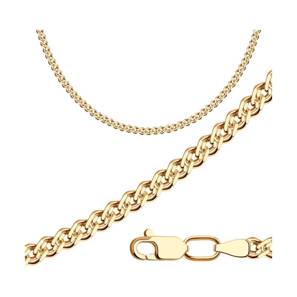 Цепь плетение Нонна из золочёного серебра SOKOLOV 988060602